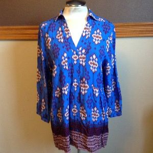 maeve ANTHROPOLOGIE floaty rayon blouse L 14